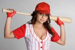 De Vrouw van het honkbal royalty-vrije stock foto's