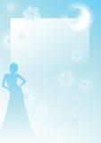 De vrouw van het ijs royalty-vrije illustratie