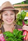De Vrouw van het landbouwbedrijf Stock Foto's