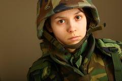 De vrouw van het leger Royalty-vrije Stock Foto