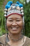 De vrouw van het portret van Azië, Akha Royalty-vrije Stock Afbeelding
