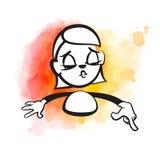 De vrouw van het stokcijfer het richten stock illustratie