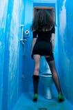 De vrouw van het toilet Royalty-vrije Stock Foto's