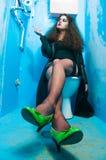 De vrouw van het toilet Royalty-vrije Stock Fotografie