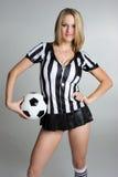 De Vrouw van het voetbal Stock Afbeeldingen