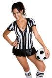 De Vrouw van het voetbal Stock Foto's