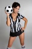 De Vrouw van het voetbal Stock Afbeelding