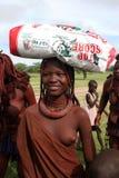 De Vrouw van Himba Royalty-vrije Stock Afbeelding