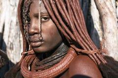De vrouw van Himba royalty-vrije stock fotografie