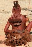 De vrouw van Himba, Namibië Royalty-vrije Stock Foto's