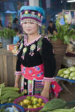 De vrouw van Hmong in Laos Royalty-vrije Stock Fotografie