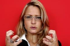 De vrouw van Irated Royalty-vrije Stock Afbeelding