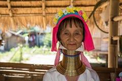 De vrouw van Kayan Stock Afbeelding