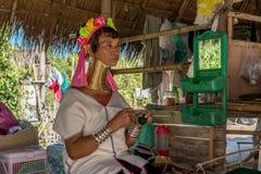 De vrouw van Kayan Stock Foto