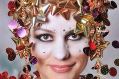 De vrouw van Kerstmis stock fotografie