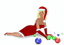 De Vrouw van Kerstmis Royalty-vrije Stock Foto