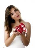De vrouw van Kerstmis royalty-vrije stock afbeelding