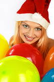De vrouw van Kerstmis. Stock Foto