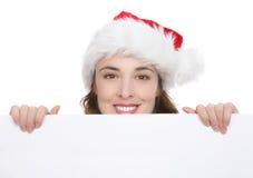 De Vrouw van Kerstmis Royalty-vrije Stock Afbeeldingen