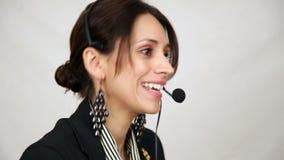 De vrouw van de klantendienst stock videobeelden