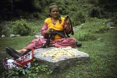 De vrouw van Ladakhi Royalty-vrije Stock Foto's