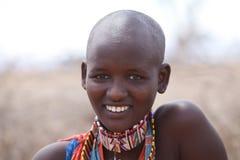 De vrouw van Masai Royalty-vrije Stock Foto