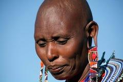 De Vrouw van Masai (Kenia) Royalty-vrije Stock Foto