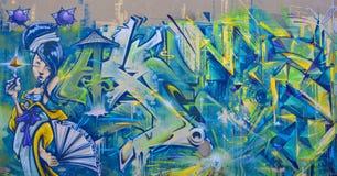 De vrouw van Montreal van de straatkunst Stock Afbeeldingen