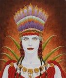 De Vrouw van Nasca Royalty-vrije Stock Afbeeldingen