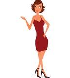 De vrouw van Nice in bruin Royalty-vrije Stock Afbeeldingen