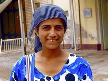 De vrouw van Oezbekistan het glimlachen Royalty-vrije Stock Foto's