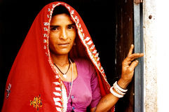 De vrouw van Rajasthani - India Stock Afbeeldingen