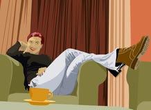 De vrouw van Ralaxing vector illustratie