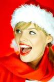De Vrouw van Santas Royalty-vrije Stock Fotografie