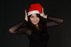 De Vrouw van Santas Royalty-vrije Stock Afbeeldingen