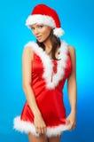 De Vrouw van Santas Stock Afbeeldingen