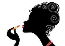 De vrouw van Silhouttle Stock Illustratie