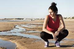 De vrouw van sporten het rusten Royalty-vrije Stock Afbeeldingen