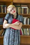 De vrouw van de student Stock Foto's