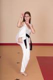 De Vrouw van vechtsporten Stock Foto