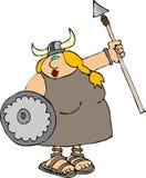 De Vrouw van Viking vector illustratie
