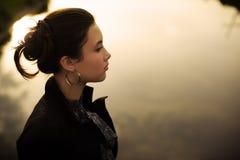 De vrouw van Zen stock fotografie