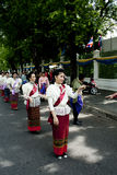 De vrouw voert een Thaise traditionele dans uit   Royalty-vrije Stock Fotografie