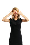 De vrouw ziet niets Royalty-vrije Stock Foto's