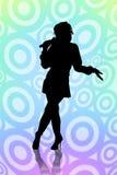 De vrouw zingt Royalty-vrije Stock Foto's