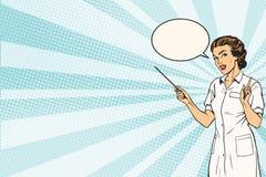 De vrouwelijke achtergrond van de artsen medische presentatie royalty-vrije illustratie