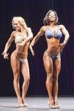 De vrouwelijke bikinigeschiktheid modelevelyn dirocie toont haar beste voorzijde Royalty-vrije Stock Afbeelding