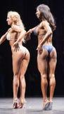 De vrouwelijke bikinigeschiktheid modelevelyn dirocie toont haar beste zijp Stock Afbeelding