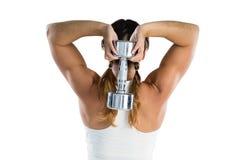 De vrouwelijke domoor van de atletenholding Royalty-vrije Stock Afbeelding