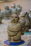 De vrouwelijke engel van gekleurd mozaïek royalty-vrije stock afbeeldingen